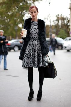 black + gray animal print