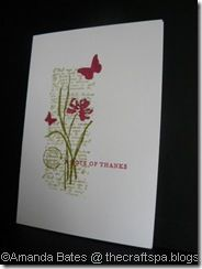 "By Amanda Bates. Uses stamps from ""Love and Sympathy"" set by Stampin' Up."