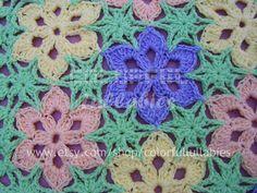 WONDER. Crochet flower blanket  by Sara Palacios ravelry.com