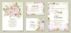 Premium Vector | Elegant wedding invitation floral design Wedding Invitation Card Template, Elegant Wedding Invitations, Floral Design, Reception, Templates, Frame, Picture Frame, Stencils, Floral Patterns