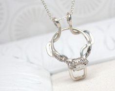 Charmant Diamond Ring Holder Necklace Wedding Ring Holder Necklace Por Tmbox