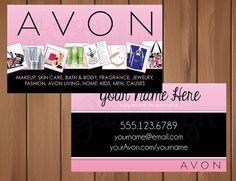 Avon Representative  Business Cards  Digital by MyCrazyDesigns #Avon