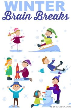 Add winter brain break ideas to the classroom to add movement breaks so kids can learn and focus with better attention, all with a winter theme! Gross Motor Activities, Movement Activities, Brain Breaks For Kindergarten, Penguin Dance, Brain Break Videos, Pediatric Occupational Therapy, Winter Activities For Kids, Mindfulness Activities, Classroom Inspiration