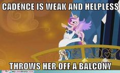 she can fly though- or not.....  but, SHINING ARMOR its not your fault its really HASBROS fault!