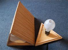 coffee stir sticks/popsicle sticks lamp by Shen Guo, via Behance