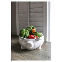 3R Studios 12.5in Ceramic Bowl   White
