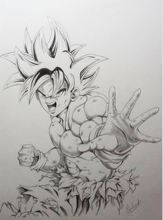 Marvelous Learn To Draw Manga Ideas. Exquisite Learn To Draw Manga Ideas. Goku Drawing, Ball Drawing, Manga Drawing, Drawing Faces, Drawing Sketches, Drawing Ideas, Dbz Drawings, Cool Drawings, Polychromos