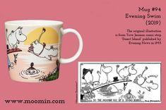 Moomin mug # 94 Moomin Mugs, Diving Board, Tove Jansson, Swim, Illustrations, Paint, History, The Originals, Tableware