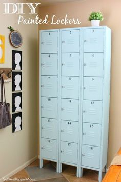 Upcycle old lockers into awesome storage