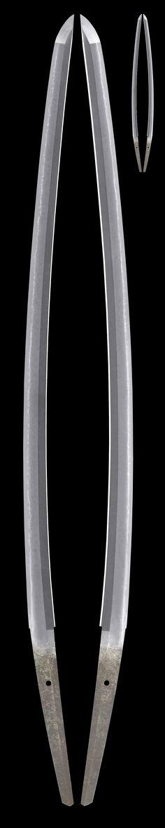 刀 斎藤國吉(新々刀) Katana[Saitou_Kuniyoshi] 拵 金皺革塗鞘半太刀形打刀拵[Koshirae]