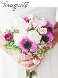 Style Unveiled - Style Unveiled | A Wedding Blog - Beach Chic Bridal Bouquet - Purple, Pink, andWhite a little too wild for me probably