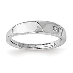 Sterling Silver White Ice .02ct. Diamond Ring - Size P 1/2--79.58