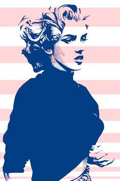 Marilyn Monroe on pop art. Marilyn Monroe Kunst, Marilyn Monroe Artwork, Marylin Monroe, Comic Kunst, Comic Art, Arte Pop, Gravure Illustration, Illustration Art, Pop Art Pictures