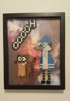 Regular Show perler bead art work by NerdCouple