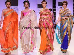 Mandira Bedi Sarees @ Lakme Fashion Week 2014 Celebrity Sarees, Designer Sarees, Bridal Sarees, Latest Blouse Designs 2014
