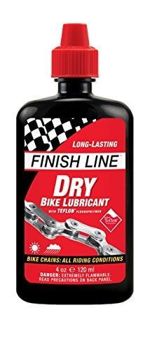 Finish Line Dry Teflon Bicycle Chain Lube 4 Ounce Drip Squeeze Bottle Bike Lube Bike Chain Lube