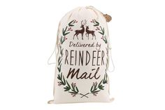 We are very excited to be stocking these fantastic canvas Christmas Sacks with reindeer print 3 designs to choose from Do not open until 25th