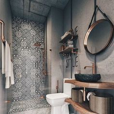 Modern Farmhouse Bathroom Decor Ideas - Page 30 of 70 - ProHouse. Bathroom Inspiration, Bathroom Interior, Bathroom Inspo, Farmhouse Bathroom Decor, Contemporary Home Decor, Modern Farmhouse Bathroom, Bathroom Decor, Small Bathroom Remodel Designs, Small Bathroom Remodel