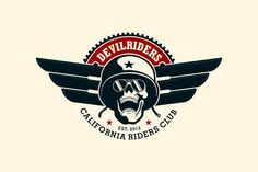 Motorcycle Club Logo Temp. by g design on @creativemarket