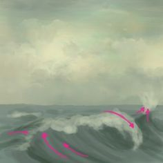 basic tutorial on painting waves.