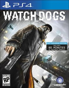 PS4 - Watch Dogs   http://www.amazon.com/Watch-Dogs-playstation-4/dp/B00BI83EVU/ref=sr_1_2_title_0?s=videogames=UTF8=1371413901=1-2=watch+dogs+ps4