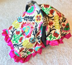 Glitter Monogram Canopy Blanket Fancy Damask Car by ShopRitzyBaby  sc 1 st  Pinterest & Kumari Garden Canopy Blanket Teja Pink Car Seat Cover Heevan ...