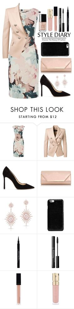 """""""Lunch Break"""" by baconhadamom-covet ❤ liked on Polyvore featuring Balmain, Jimmy Choo, Dorothy Perkins, Anne Sisteron, Maison Margiela, Givenchy, Witchery and Smith & Cult"""