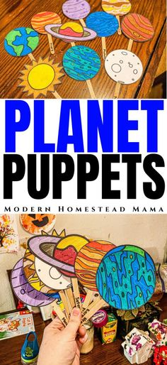 Planet Puppets Printable for Kids | Modern Homestead Mama Space Theme for Preschoolers and Kindergarteners
