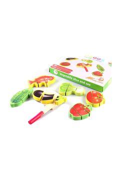 Wooden Vegetable Slice Set GLR-501A Learning Toys | Trendyol