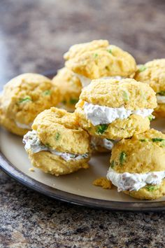 Jalapeno Cornbread Whoopie Pies with Bacon Goat Cheese | Baking Beauty