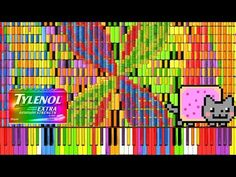 "▶ [Black MIDI] Synthesia – ""Nyan Trololol"" | Rainbow Tylenol & Nyan Cat Remix ~ BusiedGem - YouTube"