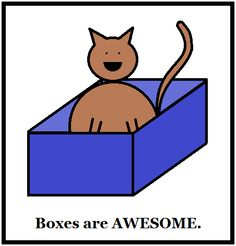 Boxes are AWESOME.  #cats
