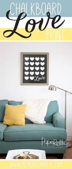 Remodelaholic   Chalkboard Love Poster Printable
