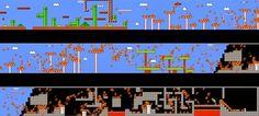 Aparentemente, esta experiência ocorreu no GamesCom deste ano, na Alemanha. 974 pessoas jogaram um nível de Super Mario Bros em contra-relógio e, em seguida, todas as partidas foram coletadas e colocadas num único vídeo.