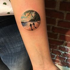 Beach tattoo by Eva Krbdk. EvaKrbdk Eva beach summer paradise ocean vacation getaway couple