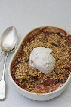 Serves 2   Prep Time – 25minutes, Bake Time - 35 minutes   Skill –Medium  Method: For the rhubarb: 150g rhubarb 2 star anise ¼ tsp cinnamon 2x1cm chunk of fr