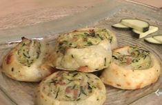 Girelle di sfoglia con zucchine e formaggi