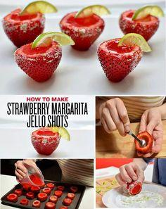 Strawberry jelly shots