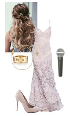 """Awards"" by lilashian on Polyvore featuring Elie Saab, Tiffany & Co., Schutz and Galaxy Audio"
