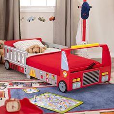 KidKraft Firetruck Toddler Bed