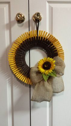 1000 images about wreaths on pinterest summer wreath for Clothespin crafts for adults