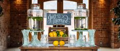wedding drinks stations drink dispensers mason jars straws