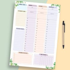 Use Weekly Undated Planner template and you'll see what tasks you need to complete. Our templates assure that you can tackle your day ahead from every angle. All planners are available in four sizes: A4; A5; US Letter Size; Half Letter Size. They are can use for your Android tablet. #week #planner #weekly #undated #planners