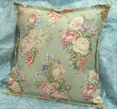CHARLOTTE MINT GREEN (Not Sage) 2 Ralph Lauren fabric CUSTOM 16x16 Pillow Shams  #CustomMade #floral
