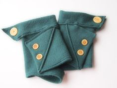 Fingerless Gloves Cashmere Wool Blend Gray Many colors & styles available by ArtisanFeltStudio