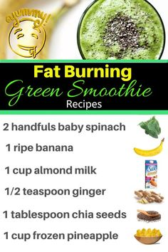 How to Make a Fat Burning Green Smoothie - Easy Green Smoothie Recipes for Weight Loss Fat Burning - Drinks ! - How to make the best green smoothie to lose weight. Why green smoothies are belly fat burning smoot - Fat Burning Smoothie Recipes, Easy Green Smoothie Recipes, Best Green Smoothie, Easy Smoothies, Fat Burner Smoothie, Green Smoothie Cleanse, Detox Smoothies, Green Juice Recipes, Healthy Green Smoothies