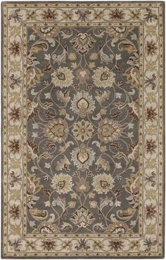 The CAE-1005 from the Caesar collection is a hand tufted construction made of 100% wool in a traditional category of style. The rugs in this collection are approximately 2/3 inch thick and constructed in India by Surya and ships brand new, first quality from their warehouse via UPS.