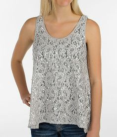 Daytrip Sequin Trapeze Tank Top on Wanelo
