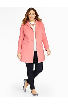 Talbots - Solid Double-Face Topper | New Arrivals | Woman