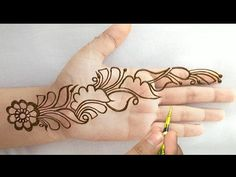 New latest Rakhi Special mehndi designs for hand*Simple easy beautiful henna mehndi designs T. - Community Board of Boards - Henna Designs Hand Finger Henna Designs, Back Hand Mehndi Designs, Mehndi Designs Book, Mehndi Designs 2018, Modern Mehndi Designs, Mehndi Designs For Beginners, Mehndi Designs For Girls, Mehndi Design Photos, Mehndi Designs For Fingers